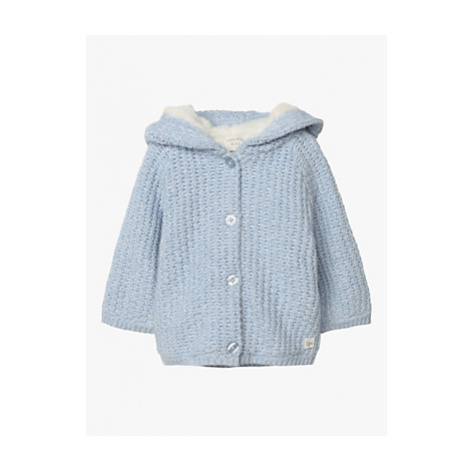 Carrément Beau Baby Knitted Cardigan Coat, Fjord