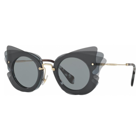 Miu Miu Woman MU 02SS - Frame color: Grey, Lens color: Grey-Black, Size 63-16/140