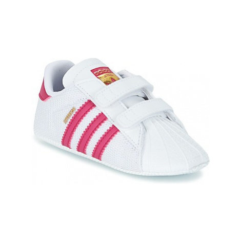 Adidas SUPERSTAR CRIB girls's Children's Shoes (Trainers) in White