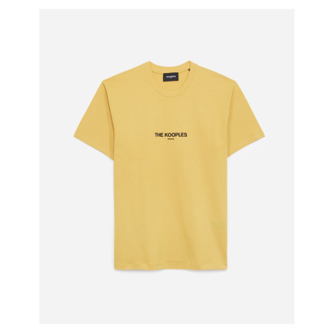 The Kooples - Yellow cotton T-shirt with The Kooples logo - MEN