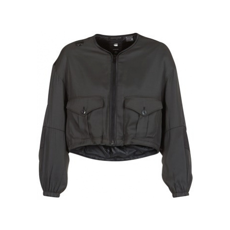 G-Star Raw RACKAM OS CROPPED BOMBER women's Jacket in Black