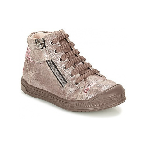 GBB DESTINY girls's Children's Shoes (High-top Trainers) in Beige