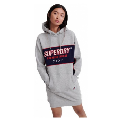 Superdry GRAPHIC PANEL SWEAT DRESS grey - Women's dress