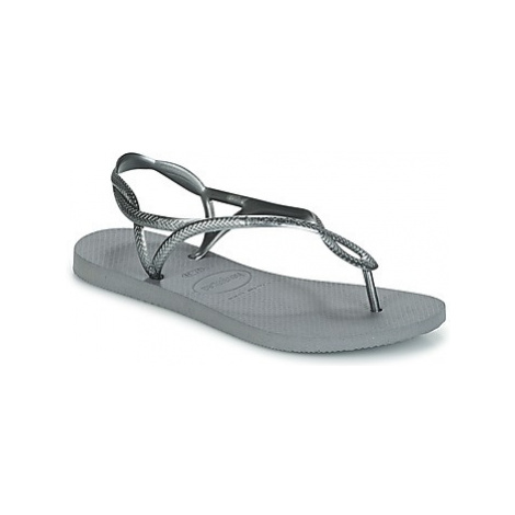 Havaianas LUNA women's Flip flops / Sandals (Shoes) in Silver