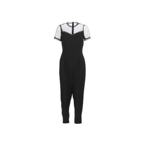 MICHAEL Michael Kors LACE YOKE JUMPSUIT women's Jumpsuit in Black