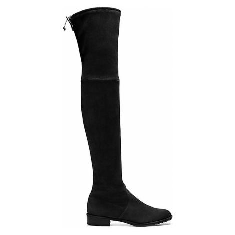 Stuart Weitzman Boots Women - LOWLAND BLACK SUEDE STRETCH