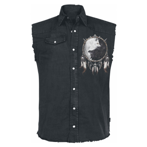 Spiral - Wolf Chi - Sleeveless workershirt - black