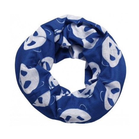 Finmark CHILDREN'S MULTIFUNCTIONAL SCARF blue - Kids' multi-purpose scarf
