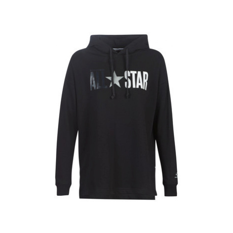 Converse ALL STAR FLEECE PO women's Sweatshirt in Black