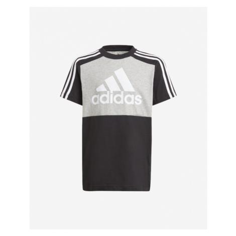 adidas Performance Esstentials Colorblock Kids T-shirt Black Grey