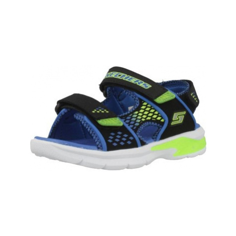 Skechers S LIGHTS E-II boys's Children's Sandals in Black