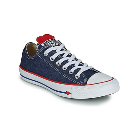 Converse CHUCK TAYLOR ALL STAR SUCKER FOR LOVE TEXTILE OX women's Shoes (Trainers) in Blue