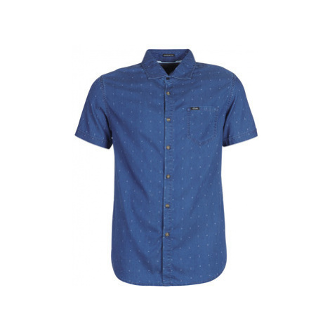 Guess CLYDE men's Short sleeved Shirt in Blue