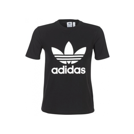 Adidas TREFOIL TEE women's T shirt in Black