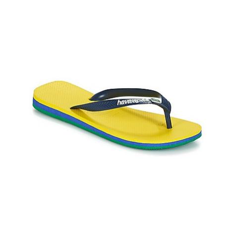 Havaianas BRASIL LAYERS men's Flip flops / Sandals (Shoes) in Yellow