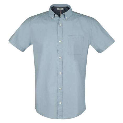 Produkt - Dobby Linen Shirt - Workershirt - blue
