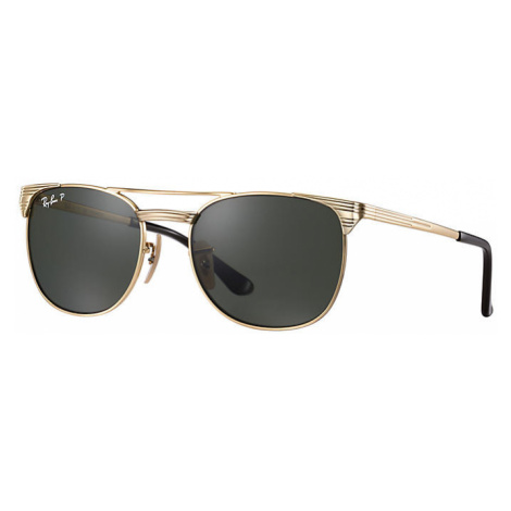 Ray-Ban Signet junior Unisex Sunglasses Lenses: Green Polarized, Frame: Gold - RJ9540S 223/9A 49