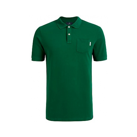 Scotch & Soda Garment Dye Polo Shirt, 1156 Jungle Green