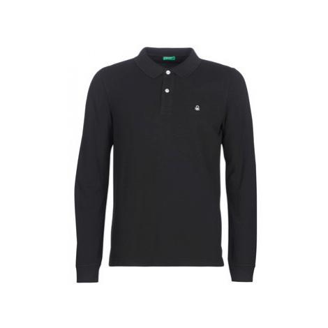 Benetton MAZARRI men's Polo shirt in Black United Colors of Benetton