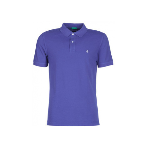 Benetton MADALO men's Polo shirt in Purple United Colors of Benetton