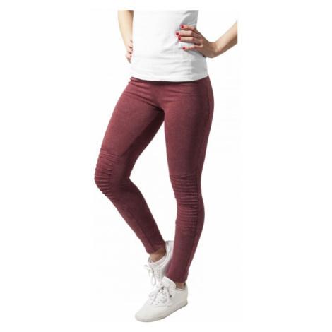 Urban Classics Ladies Denim Jersey Leggings burgundy