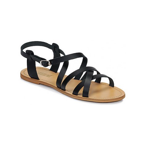 So Size IDITRON women's Sandals in Black