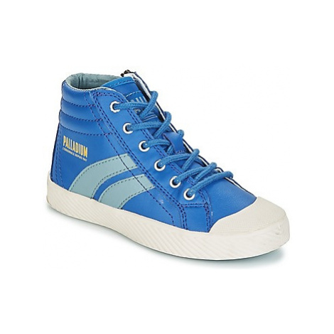 Palladium PALLAFLAME MID boys's Children's Shoes (High-top Trainers) in Blue