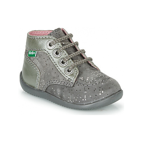 Kickers BONZIP girls's Children's Mid Boots in Grey