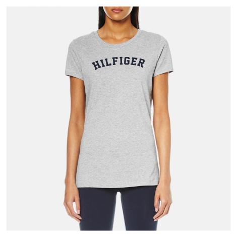 Tommy Hilfiger Women's Short Sleeve Print T-Shirt - Grey Heather - Grey