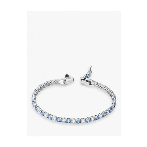 Swarovski Crystal Tennis Bracelet, Silver/Blue