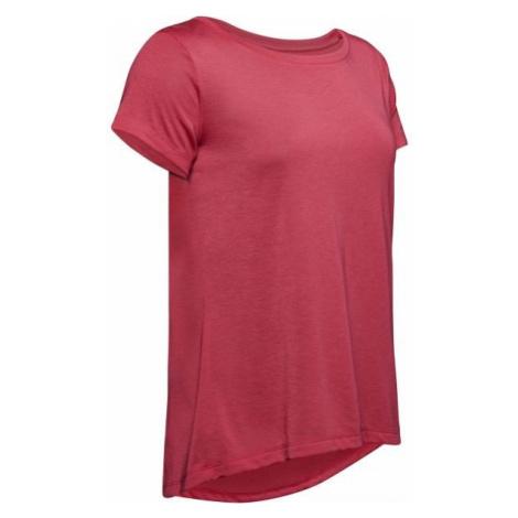 Under Armour WHISPERLIGHT SS FOLDOVER pink - Women's T-shirt