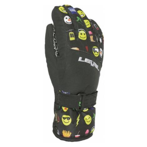 Level DARK JR black - Kids' ski gloves