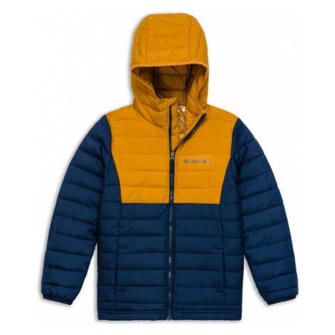 Columbia POWDER LITE BOYS HOODED JACKET brown - Boys' jacket