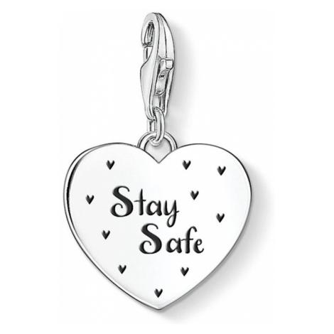 THOMAS SABO Charm Club Silver Stay Safe Heart Charm
