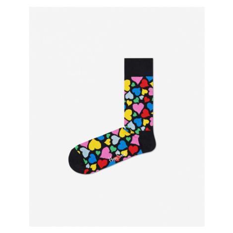 Happy Socks Heart Socks Black Colorful