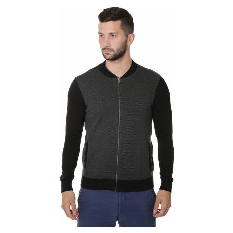 sweater Mavi Zip Up Cardigan - Dark Gray Melange