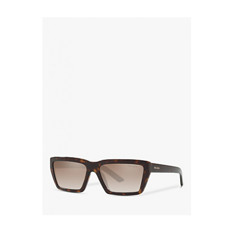 Prada PR 04VS Women's Rectangular Sunglasses, Tortoise/Grey