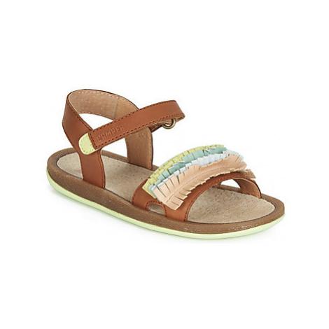 Camper TWINS K J girls's Children's Sandals in Brown
