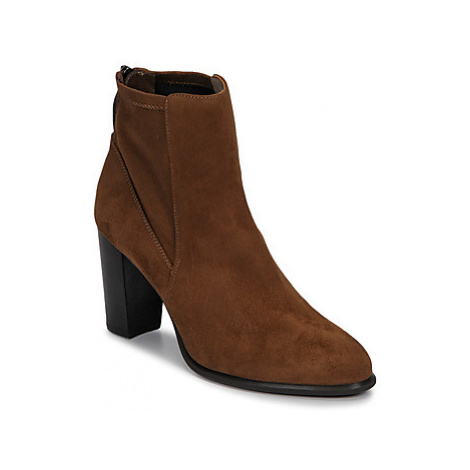Unisa UNDER women's Low Ankle Boots in Brown