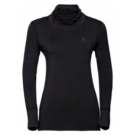 Odlo BL TOP TURTLE NECK L/S NATURAL MERINO black - Women's functional T-shirt