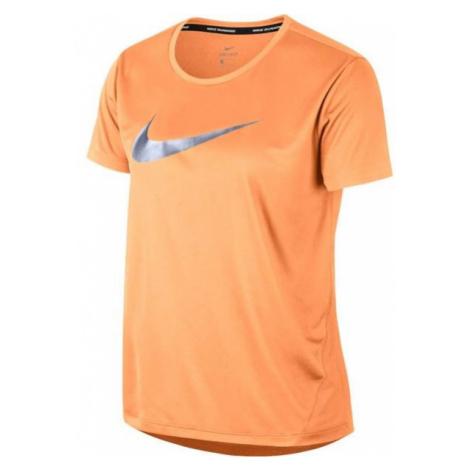 Nike MILER TOP SS HBR1 orange - Women's T-shirt