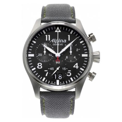 Mens Alpina Startimer Pilot Chronograph Watch