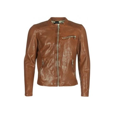 Redskins CROSS men's Leather jacket in Brown