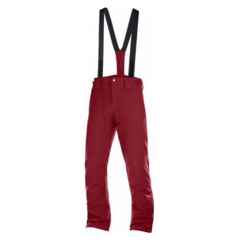 Salomon STORMSEASON red wine - Men's ski trousers