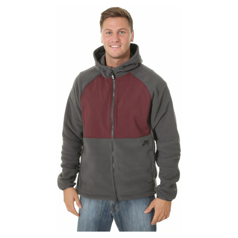 sweatshirt Nike SB Winterized Polartec Zip - 060/Anthracite/Burgundy Crush/Black - men´s