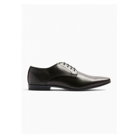 Mens Black Briar Derby Shoes, Black Topman