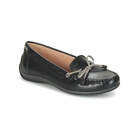 Geox D YUKI A women's Loafers / Casual Shoes in Black