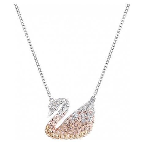 Swarovski Iconic Pastel Crystal Swan Necklace