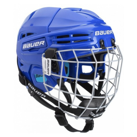 Bauer PRODIGY COMBO YTH blue - Kids' helmet with a facemask