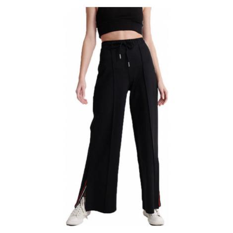 Superdry EDIT WIDE LEG JOGGER black - Women's pants